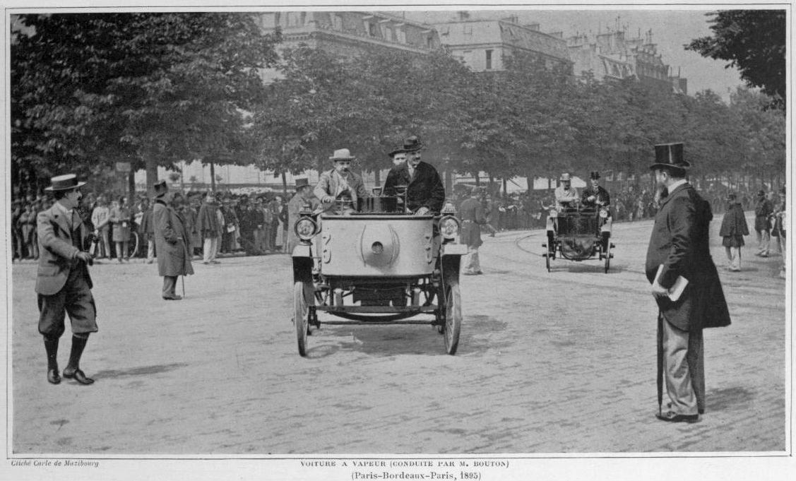 Voiture_à_vapeur_du_Comte_de_Dion_au_départ_de_Paris-Bordeaux-Paris_1895